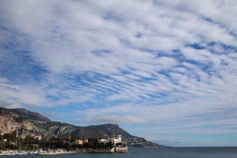Mackerel sky over Beaulieu-sur-Mer