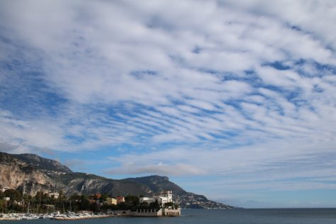Mackerel sky over Beaulieu-sur-Mer