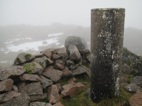 The summit of Creach Bheinn