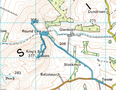 King's Seat and Buttergask route
