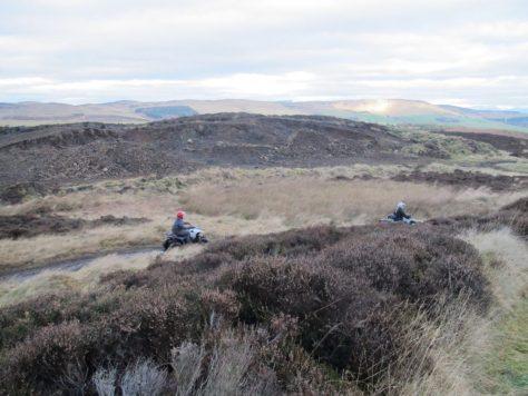 Quad bikers on Blacklaw Hill