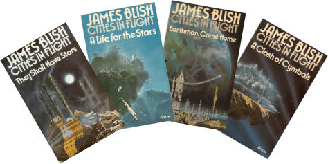James Blish's Cities In Flight covers