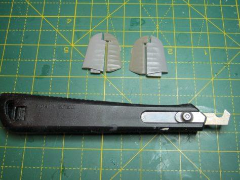 Resin 1/48 Hurricane elevators and modified Hasegawa kit parts