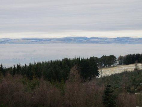 Valley fog in Strathmore
