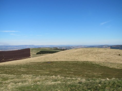Looking from Finlarg Hill to Kincaldrum Hill
