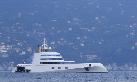Motor Yacht A, Portofino