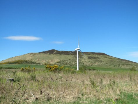 King's Seat and wind turbine