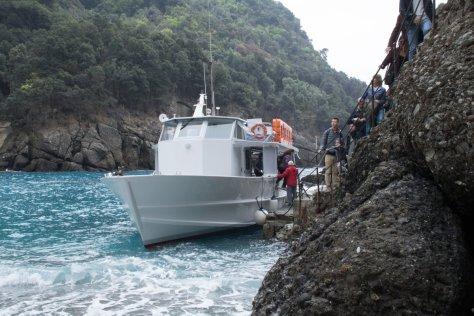 Landing at San Fruttuoso