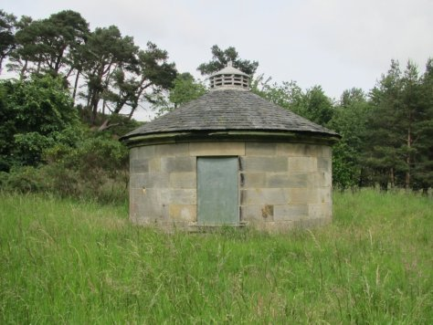 Circular building beside the Glencorse Burn
