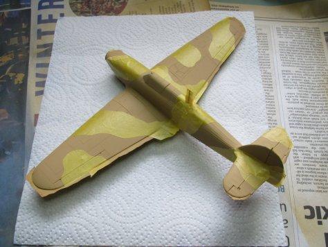 Hasegawa 1/48 Hawker Hurricane IIB masked for camouflage