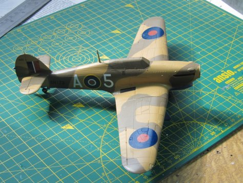 Hasegawa 1/48 Hawker Hurricane IIB decals applied
