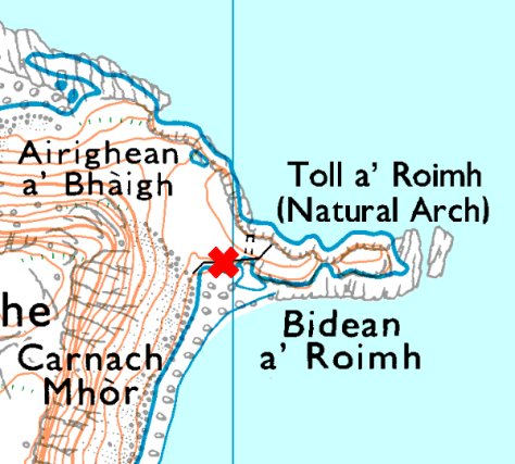 Shiants landing map