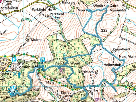 Kinnoull to Murrayshall route