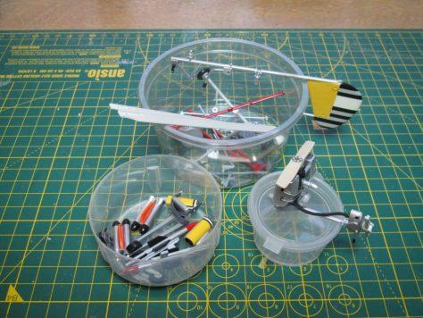 """1/24 Airfix """"Little Nellie"""" painted parts"""
