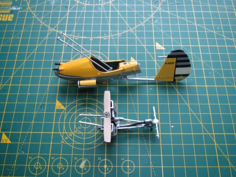 "1/24 Airfix ""Little Nellie"" basic assembly"
