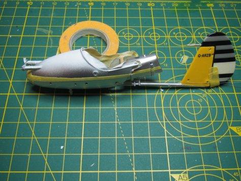 """1/24 Airfix """"Little Nellie"""" paint mask"""