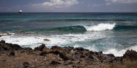 Shore at Hanga Roa, Easter Island