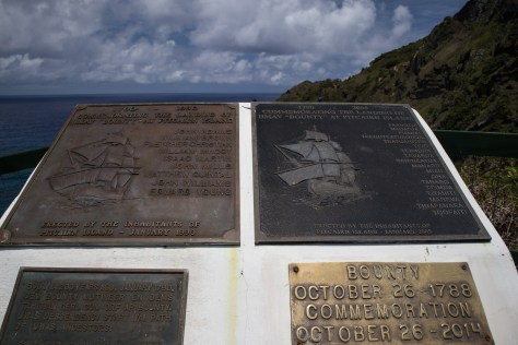 Commemorative plaques, The Edge, Pitcairn