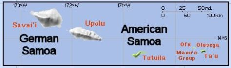 Samoa in 1900