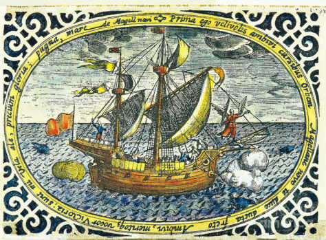 Magellan's ship Victoria (contemporary illustration)