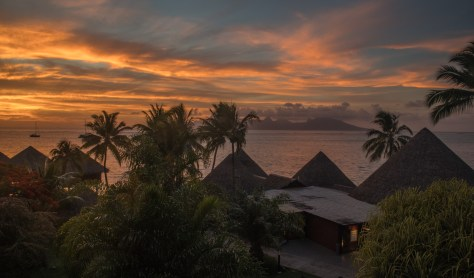 Sunset over Mo'orea