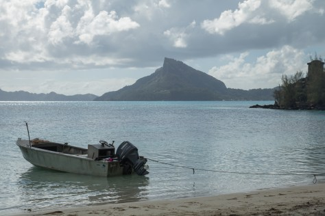 Mount Duff on Mangareva, seen from Aukena