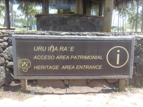 Rapa Nui sign using an eta instead of an eng, Easter Island