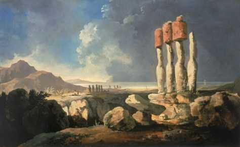 """William Hodges' """"A View Of The Monuments Of Easter Island"""""""