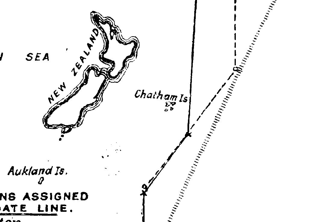 Chatham islands date line