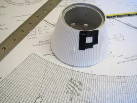Revell 1/96 Saturn V - scribing hatch on S-IVB aft interstage