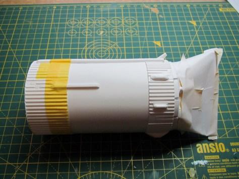Revell 1/96 Saturn V, S-IVB stage partially masked