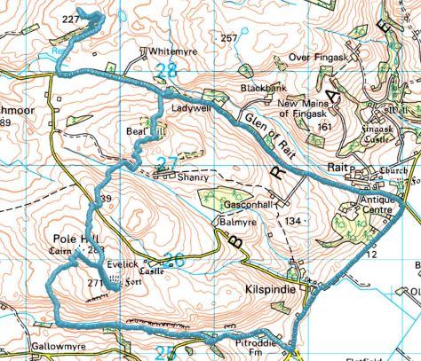 Rait-Pitroddie route