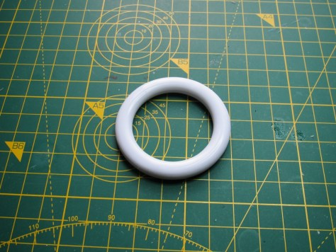 Two-inch curtain ring, modified for peroxide tank