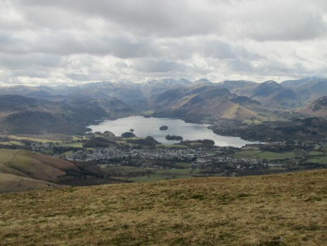 Derwent Water and Keswick from Skiddaw
