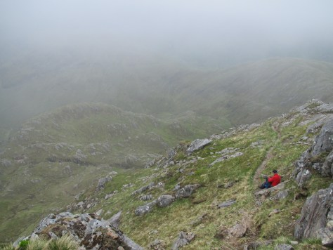 Clearing mist on the Forcan Ridge