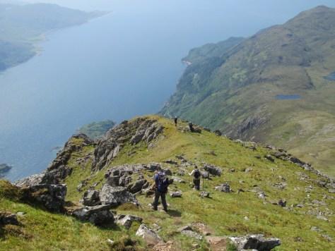 Descending Beinn Sgritheall