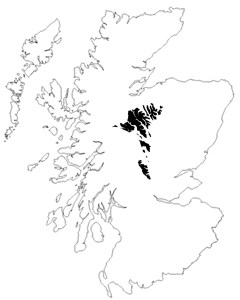 Scotland and the Faeroes, to scale