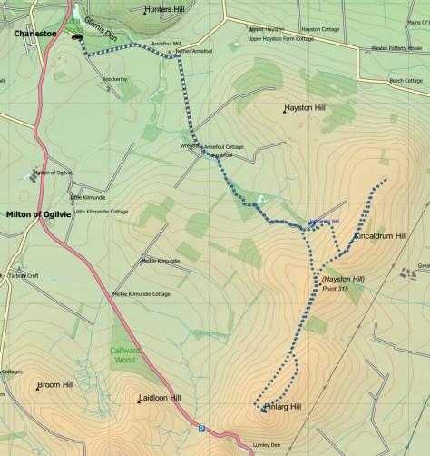 Kincaldrum-Finlarg route