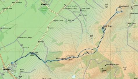Kinpurney-Castleward route