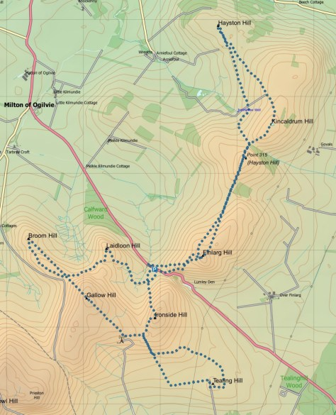 Tealing-Hayston route