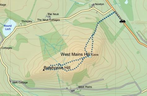 West Mains route