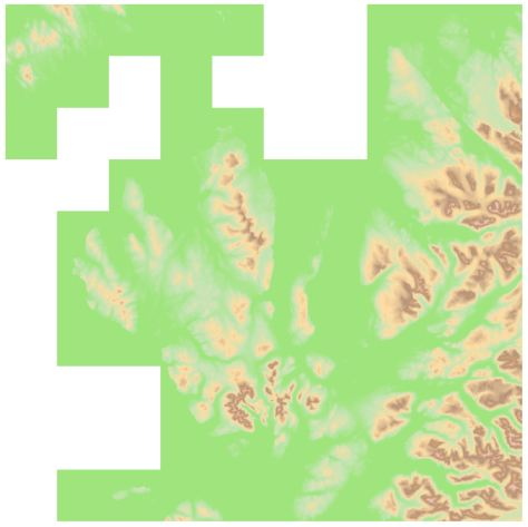 OS OpenData Terrain 50 NG height pseudocolour
