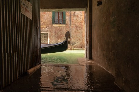 Passing gondola, Venice
