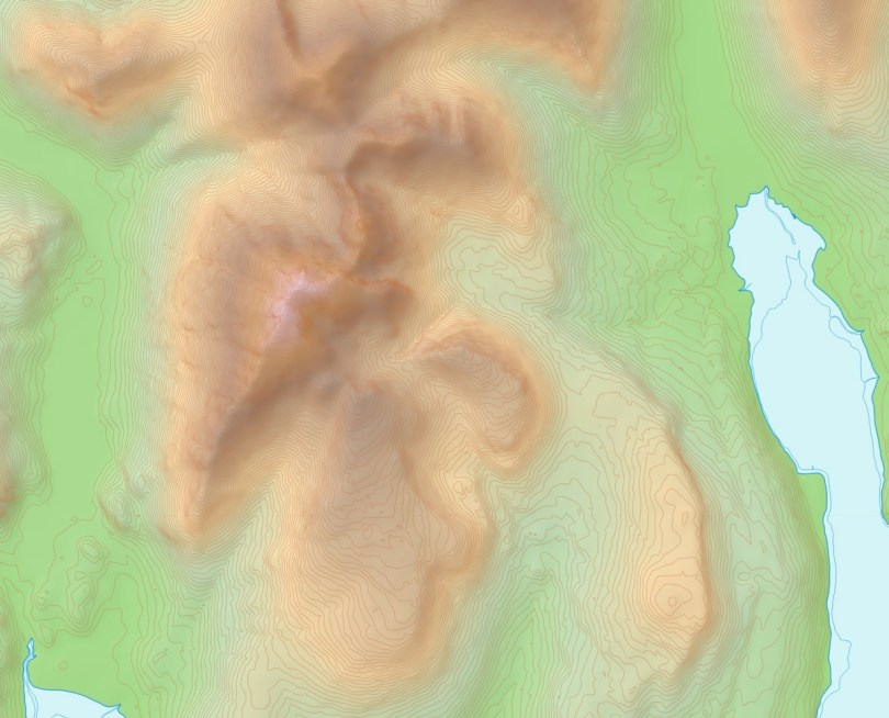 Blaven with revised contours