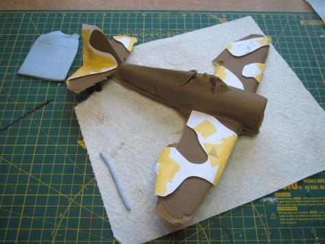 Masking Tamiya 1/48 Thunderbolt for camouflage