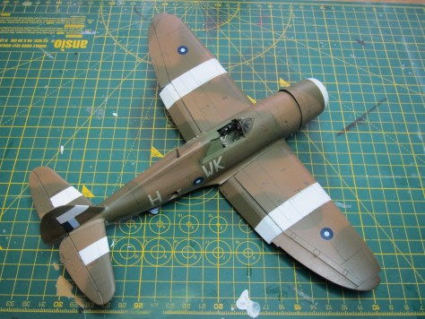 Tamiya 1/48 Thunderbolt, SEAC colours and markings, panel lines