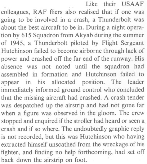 Roger Freeman, Thunderbolt: A Documentary History Of The Republic P-47, p77