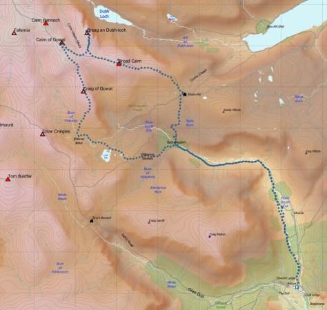 Bachnagairn route