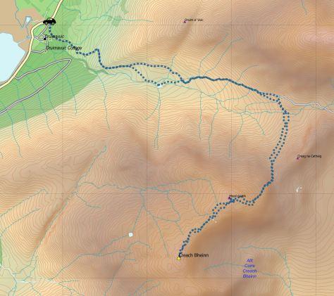 Creach Bheinn route