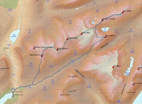 Dearg-Eibhinn route